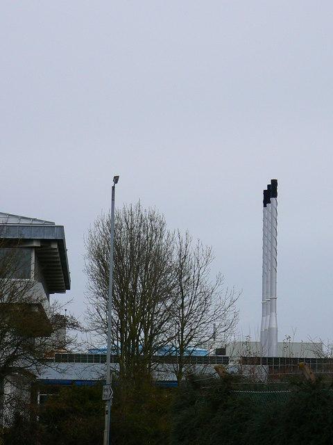 Tyco Electronics, Site H, Dorcan, Swindon - chimney stacks
