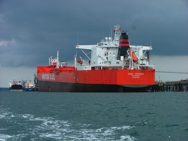 "Tanker  ""Anna Knutsen"" at Texaco oil terminal , Popton point"