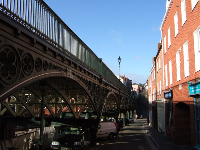 Lower North Street and the Iron Bridge, Exeter
