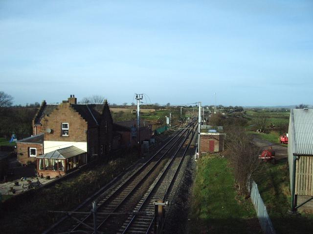 The London to Glasgow railway