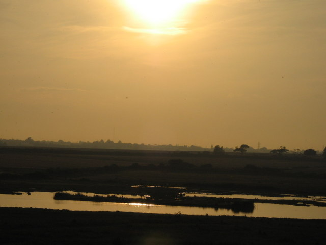 Photo taken looking across Holland Marshes