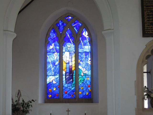 New stained glass window in Chillesford church