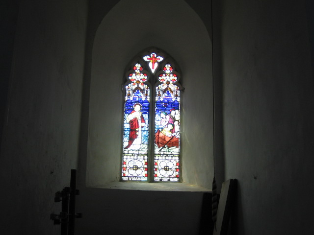 Stained Glass window in the tower end of Chillesford Church