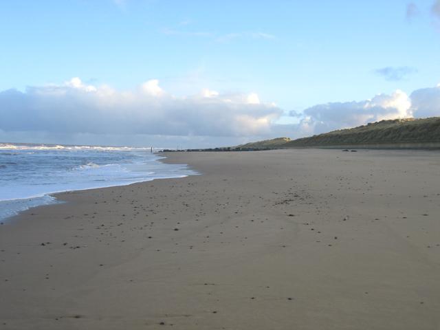 Empty beach at Waxham, Norfolk