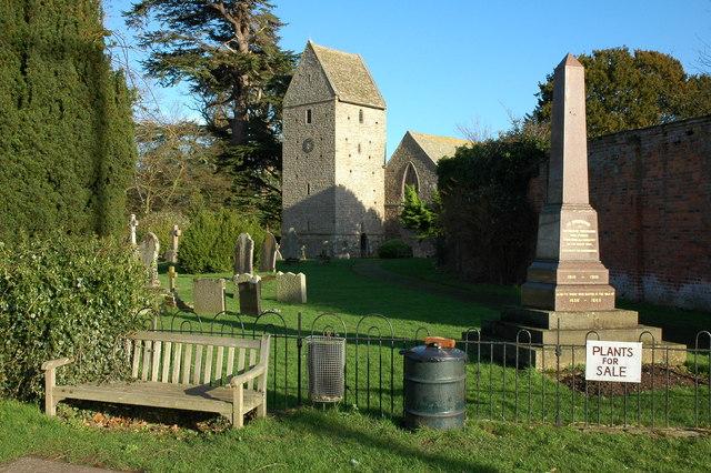 Kinnersley church and War Memorial