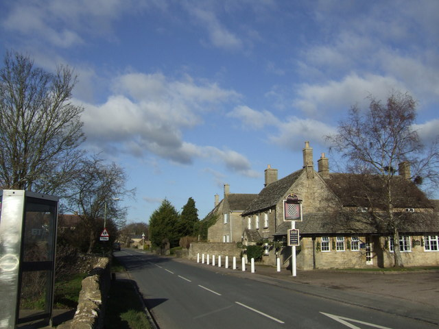 The Chequers and Main Street, Brize Norton.