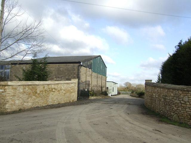 Farm buildings off Mount Owen Road.