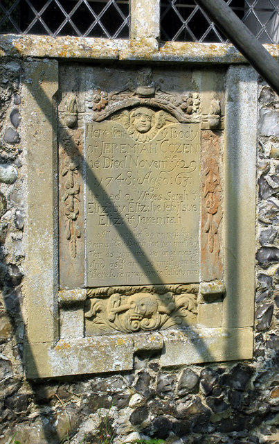 St Botolph, Westwick, Norfolk - Wall monument