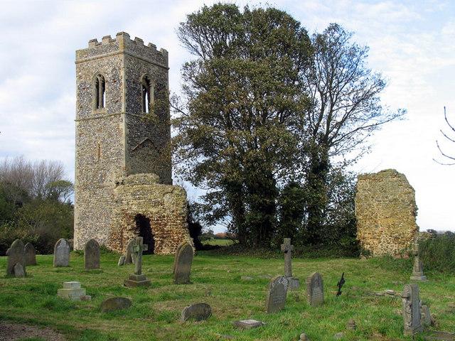 St Mary, Burgh Parva, Norfolk - Ruin