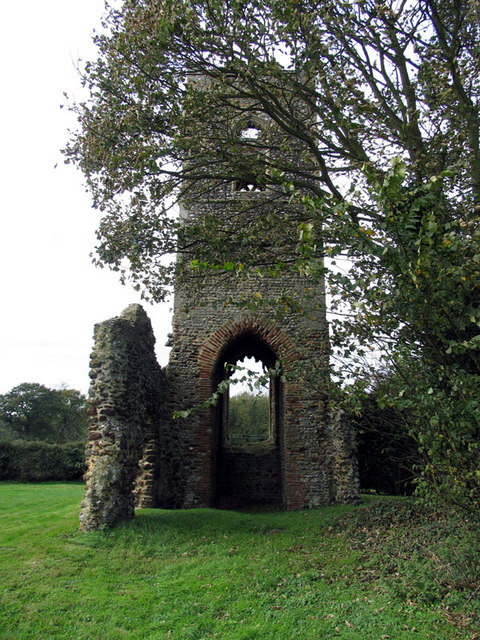 St Mary, Burgh Parva, Norfolk - Ruin
