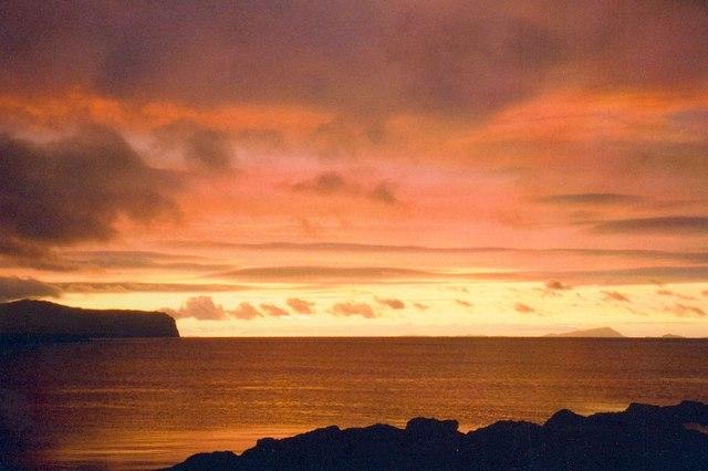 Loch Bay Sunset