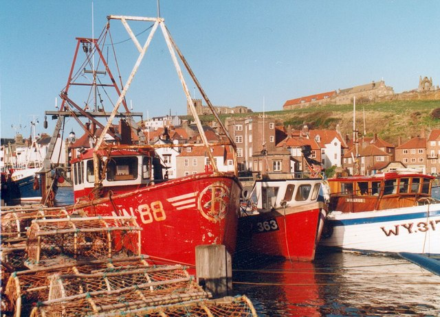 Boats in Whitby Harbour