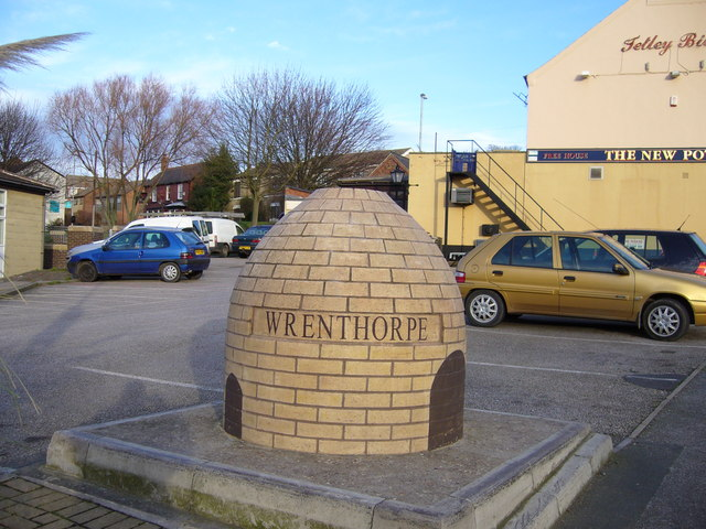 A replica pot oven in Wrenthorpe village