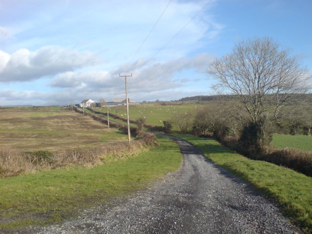 Farm track leading to farm
