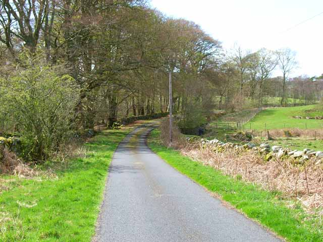Country road near Clugston Loch