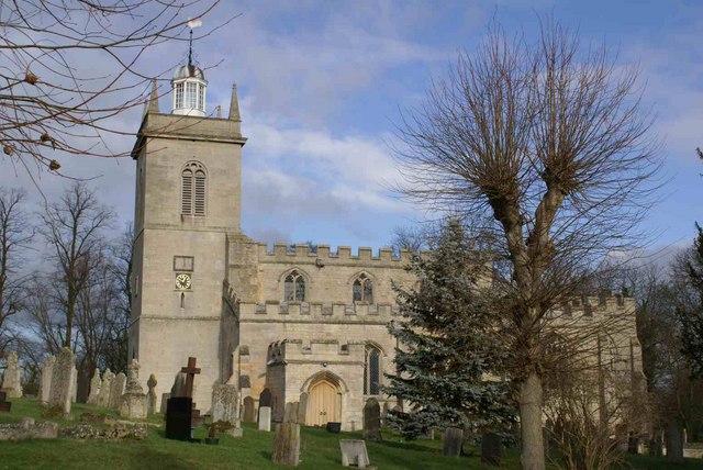 Weldon Church in weak January sun