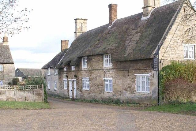 Thatch Cottages in Weldon village