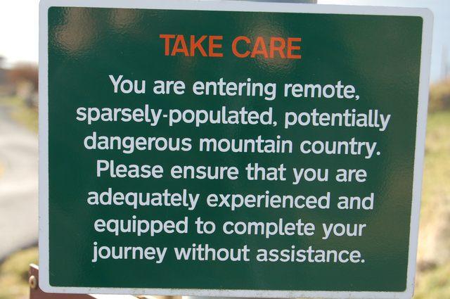 Warning sign at Elgol