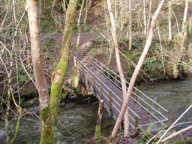 Footbridge over the Clywedog.