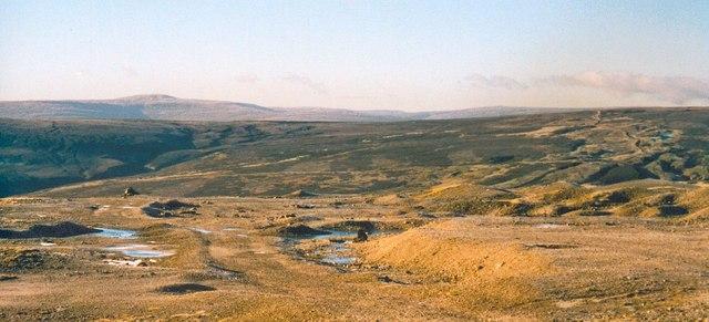 Old mining ground near Great Pinseat
