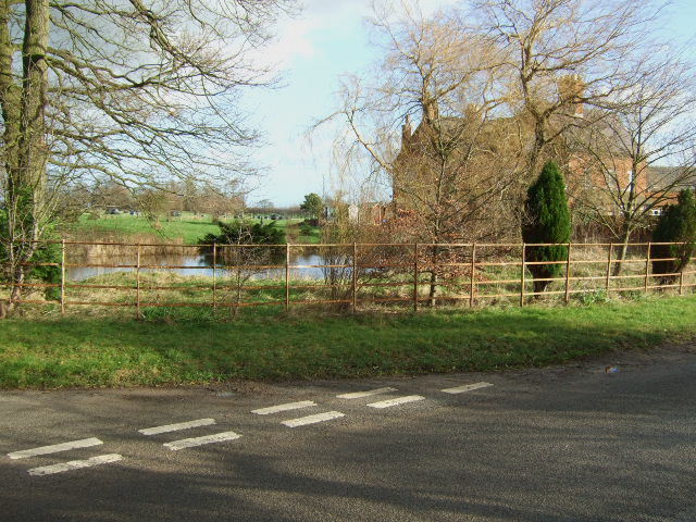 Road junction and pond