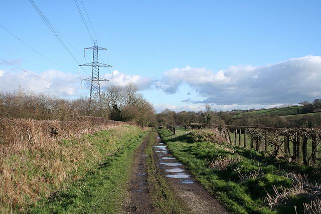 Bishop's Nympton: course of the Taunton-Barnstaple railway