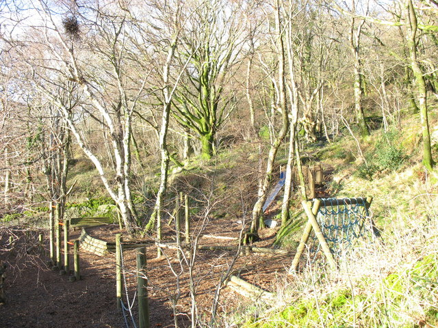 Adventure playground at the Cwm Derwen tourist attraction