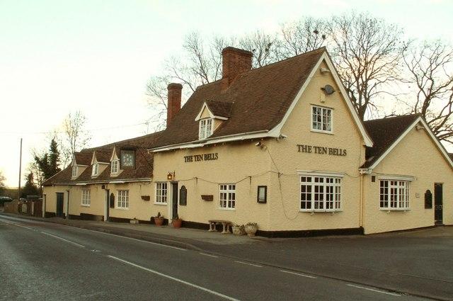 'The Ten Bells' inn at Stonham Aspal