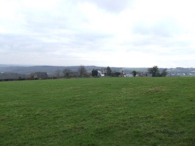 Open fields above Perryman's Farm