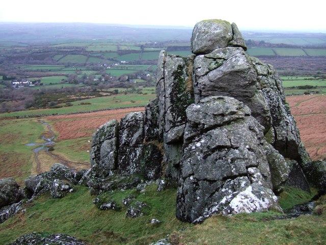 Rock west of Sourton Tors