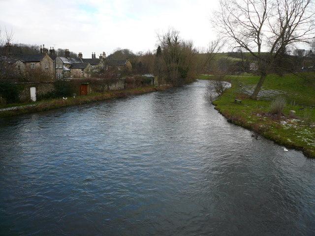 Bakewell - River Wye viewed upstream from bridge