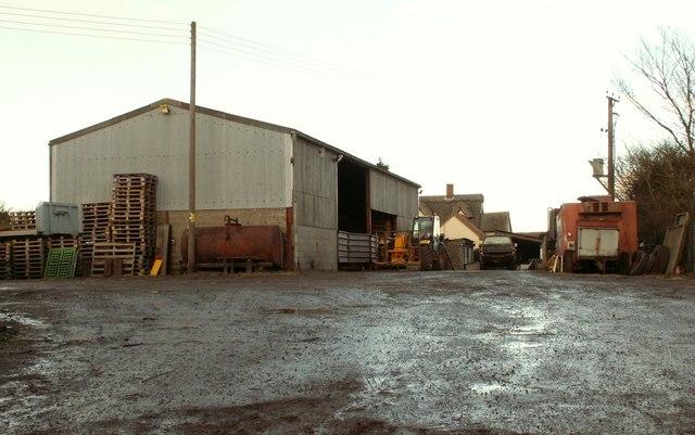 Farm buildings at Martins Farm, close to Pettaugh