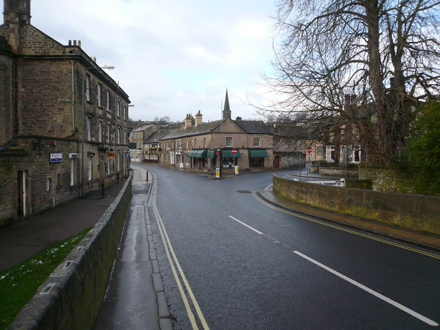 Bakewell - Street Scene viewed from Bridge