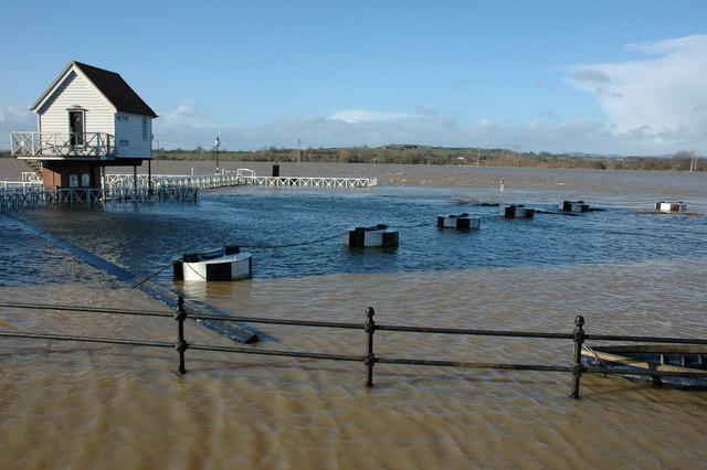 A flooded Severn Ham, Tewkesbury