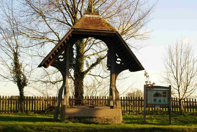 The elaborate cover for the village well