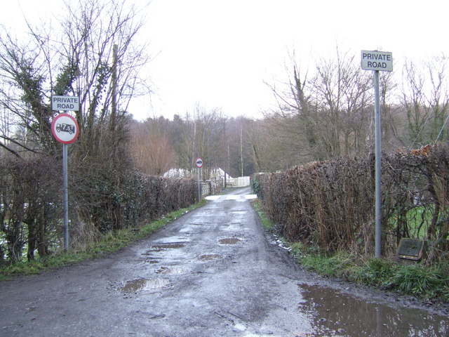 Track and footpath to Forge Farm
