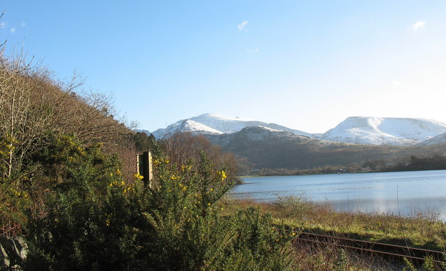 The Padarn Lake Railway track near Cei Llydan