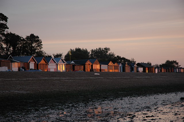 Beach huts, Calshot Beach