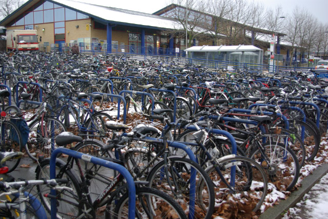 Bicycles at Oxford Station