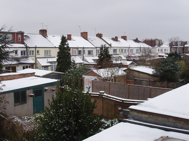 North Acton houses in snow