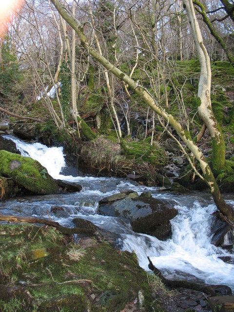 Upper rapids of Afon Fachwen