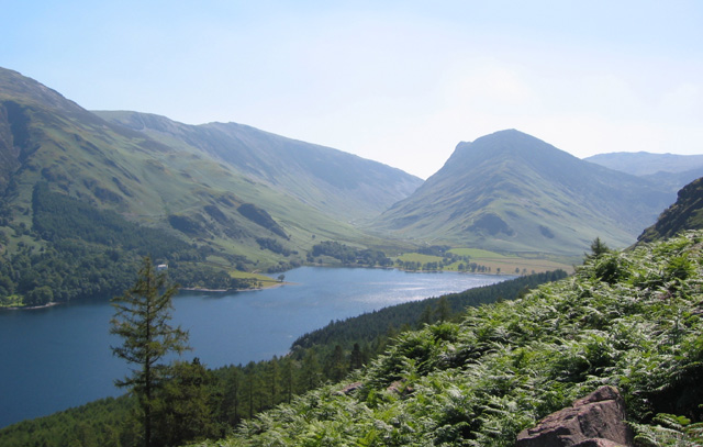 View over S Buttermere from Sour Milk Gill