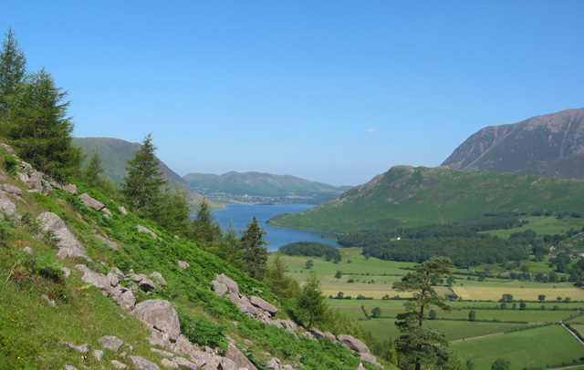 View towards Crummock Water from Sour Milk Gill