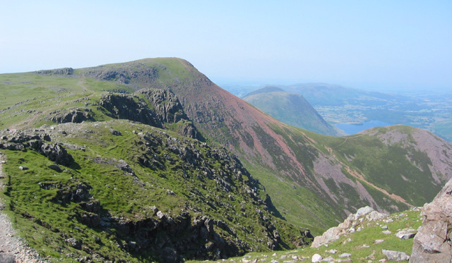 View of Red Pike from the ascent of High Stile