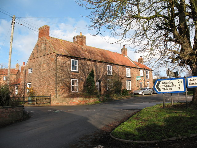 Crossroads - Cundall village