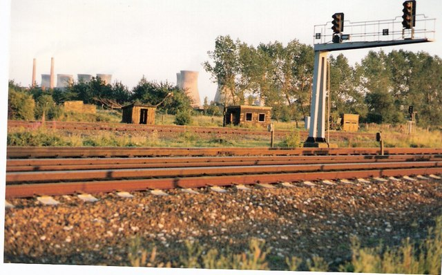 View across the rails