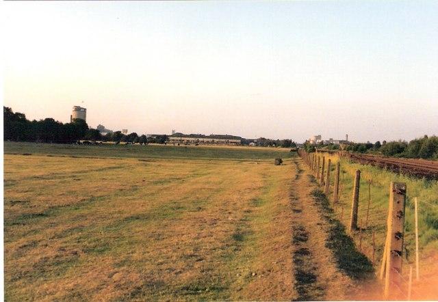 Branston pasture and Burton skyline