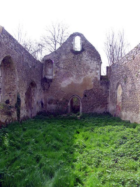 All Saints, Oxwick, Norfolk - Ruin