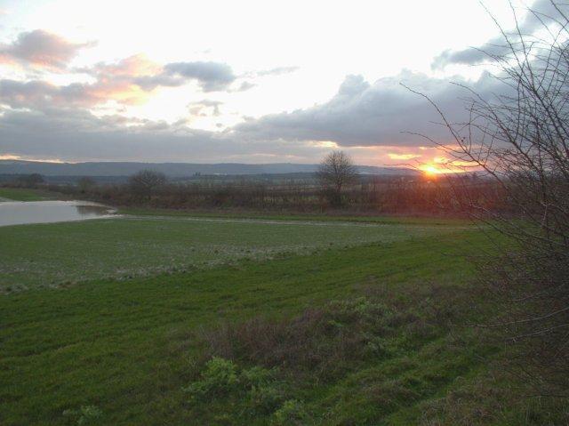 Winter sunset at Tillington