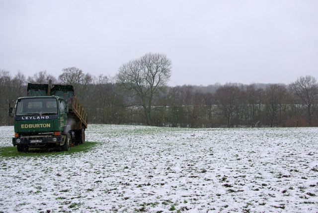 A Lorry in a Field